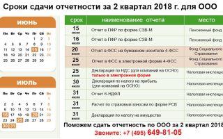 Формы отчетов за 2 квартал 2018 года и сроки их сдачи в таблице — все о налогах