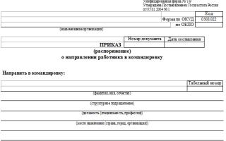 Унифицированная форма № т-9 — приказ на командировку — все о налогах