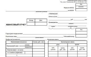 Унифицированная форма № ао-1 — авансовый отчет (скачать) — все о налогах