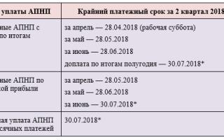 Уплата аванса по налогу на прибыль за 2 квартал 2018 года — все о налогах