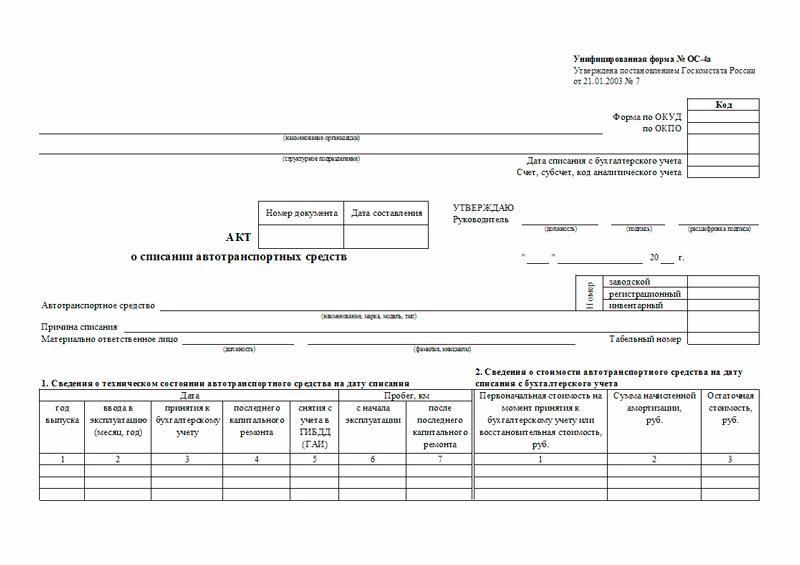 Образец акта на списание системного блока. Порядок списания компьютерной техники (нюансы)